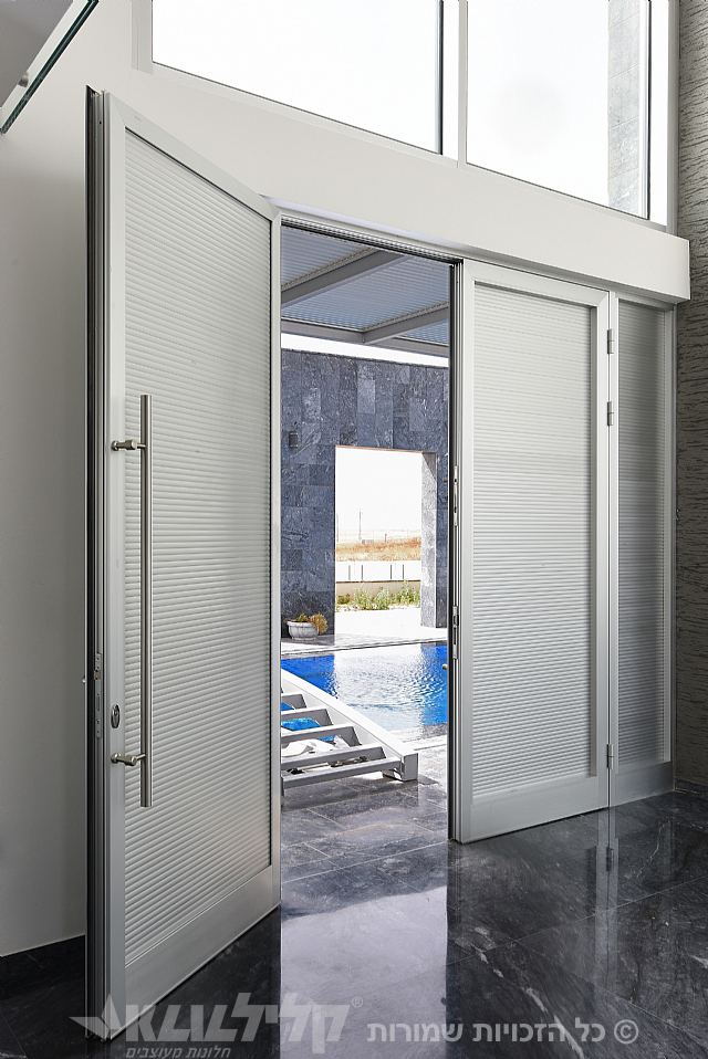 Aluminum door for impressive entrance