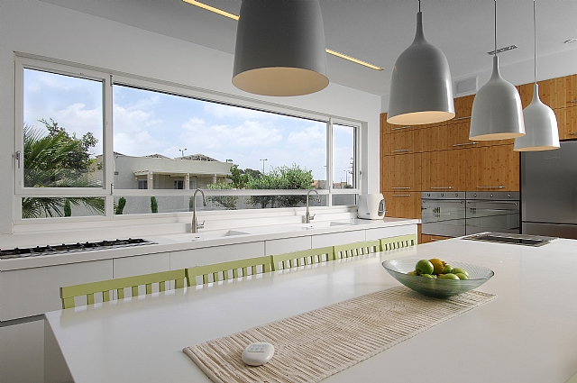 Designed kitchen window